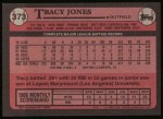 1989 Topps #373  Tracy Jones  Back Thumbnail
