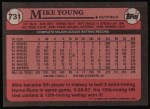 1989 Topps #731  Mike Young  Back Thumbnail