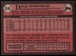 1989 Topps #26  Dale Mohorcic  Back Thumbnail