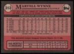 1989 Topps #353  Marvell Wynne  Back Thumbnail