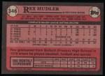 1989 Topps #346  Rex Hudler  Back Thumbnail