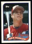 1989 Topps #346  Rex Hudler  Front Thumbnail