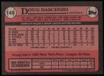 1989 Topps #149  Doug Dascenzo  Back Thumbnail