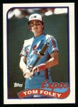 1989 Topps #529  Tom Foley  Front Thumbnail