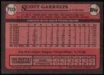 1989 Topps #703  Scott Garrelts  Back Thumbnail