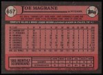1989 Topps #657  Joe Magrane  Back Thumbnail