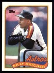 1989 Topps #252  Billy Hatcher  Front Thumbnail