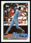 1989 Topps #745  Fred McGriff  Front Thumbnail