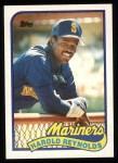 1989 Topps #580  Harold Reynolds  Front Thumbnail
