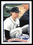 1989 Topps #365  Mike Henneman  Front Thumbnail
