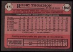 1989 Topps #15  Robby Thompson  Back Thumbnail