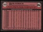 1989 Topps #163  Bob Forsch  Back Thumbnail