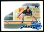 1989 Topps #429   Twins Leaders Front Thumbnail