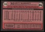 1989 Topps #155  Marty Barrett  Back Thumbnail