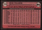 1989 Topps #124  Jim Traber  Back Thumbnail
