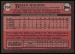1989 Topps #368  Brian Holton  Back Thumbnail