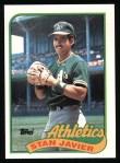1989 Topps #622  Stan Javier  Front Thumbnail