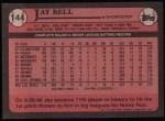 1989 Topps #144  Jay Bell  Back Thumbnail