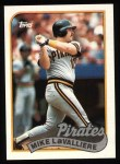 1989 Topps #218  Mike LaValliere  Front Thumbnail