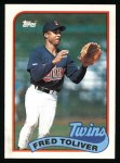 1989 Topps #623  Fred Toliver  Front Thumbnail