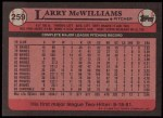 1989 Topps #259  Larry McWilliams  Back Thumbnail