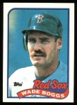 1989 Topps #600  Wade Boggs  Front Thumbnail