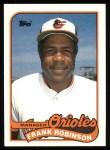 1989 Topps #774  Frank Robinson   Front Thumbnail
