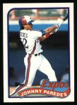 1989 Topps #367  Johnny Paredes  Front Thumbnail
