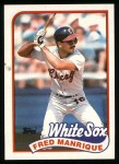 1989 Topps #108  Fred Manrique  Front Thumbnail