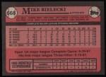 1989 Topps #668  Mike Bielecki  Back Thumbnail