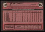 1989 Topps #441  Jerry Reed  Back Thumbnail