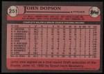 1989 Topps #251  John Dopson  Back Thumbnail