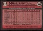 1989 Topps #228  Nelson Santovenia  Back Thumbnail