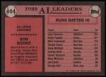 1989 Topps #404   -  Bob Boone All-Star Back Thumbnail