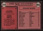 1989 Topps #389   -  Ozzie Smith All-Star Back Thumbnail