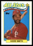 1989 Topps #389   -  Ozzie Smith All-Star Front Thumbnail