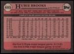 1989 Topps #485  Hubie Brooks  Back Thumbnail