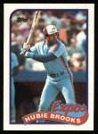 1989 Topps #485  Hubie Brooks  Front Thumbnail