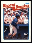 1989 Topps #1   -  George Bell Record Breaker Front Thumbnail