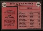 1989 Topps #397   -  Don Mattingly All-Star Back Thumbnail