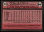 1989 Topps #95  Gerald Young  Back Thumbnail
