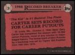 1989 Topps #3   -  Gary Carter Record Breaker Back Thumbnail
