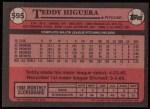 1989 Topps #595  Teddy Higuera  Back Thumbnail