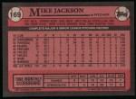 1989 Topps #169  Mike Jackson  Back Thumbnail