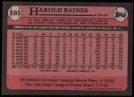 1989 Topps #585  Harold Baines  Back Thumbnail