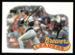 1989 Topps #759   Brewers Team Front Thumbnail