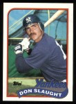 1989 Topps #611  Don Slaught  Front Thumbnail