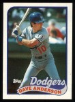 1989 Topps #117  Dave Anderson  Front Thumbnail