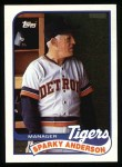 1989 Topps #193  Sparky Anderson  Front Thumbnail