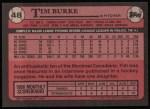 1989 Topps #48  Tim Burke  Back Thumbnail